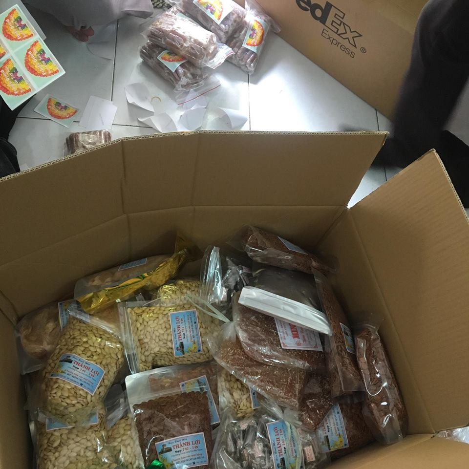 vận chuyển thực phẩm đi mỹ